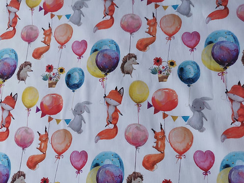 Animals with baloons