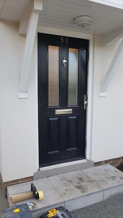 black door before