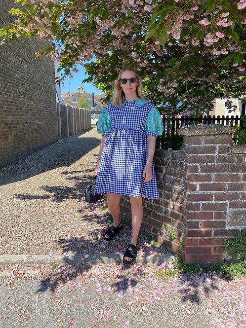Erin Collared Puff Sleeve Dress