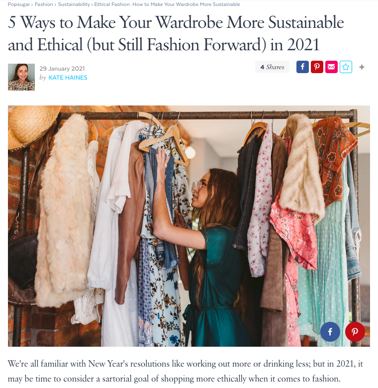 5 ways to make your wardrobe more sustai