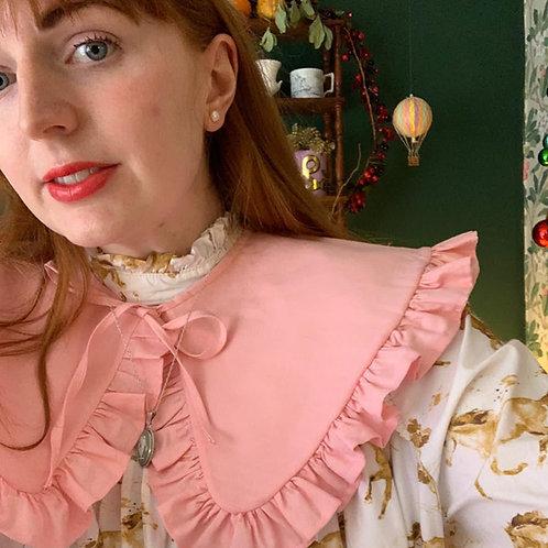 Florence Cotton Detachable Collar with Tie/ Hidden Button Fasten