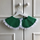Thumbnail: Emerald Green Collar with gallon shaped lace trim | Only one available