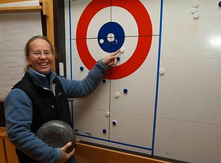 Dordi Nordby Curling instruksjon firma utdrikningslag event julebord