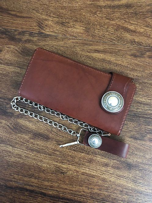 Biker/Trucker Wallet - Chestnut