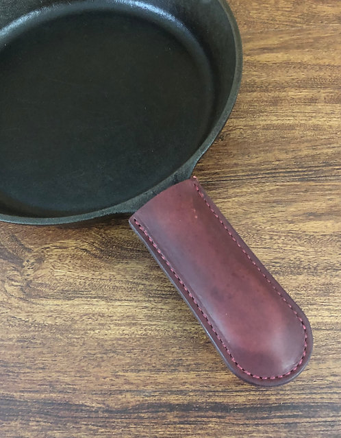 Leather Cast Iron Skillet Handle Covers