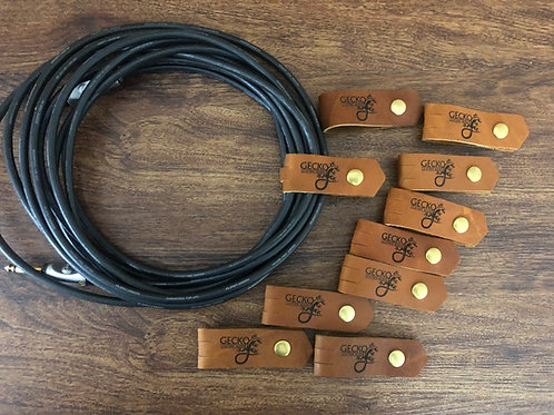 Leather Cable Wraps (3 pack)