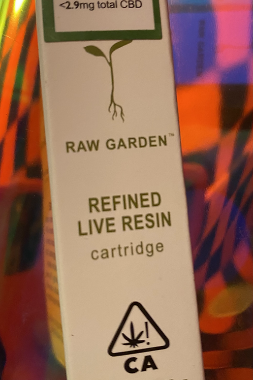 Raw Garden Live Resin Cartridge 1gm Surf Beast Sativa Hybrid