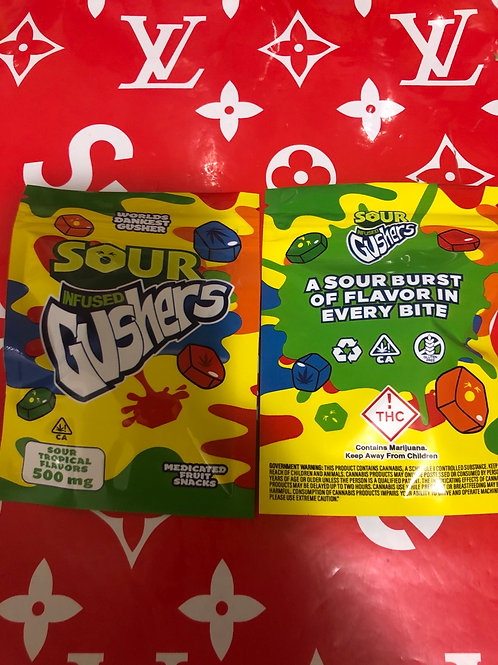 Sour Gushers Sour Tropical 500mg