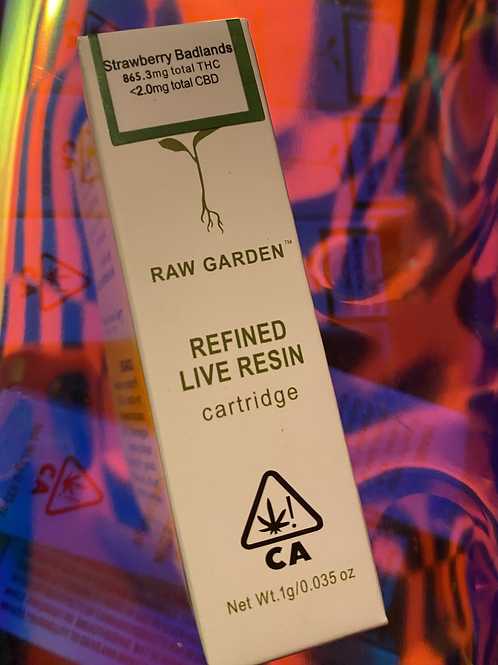 Raw Garden Live Resin Cartridge 1gm Strawberry Bedlands