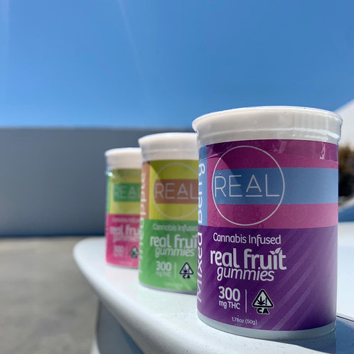 Real Fruit Gummies (Pineapple) 300mg THC