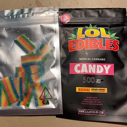 LOL Edibles Rainbow Belts 500mg