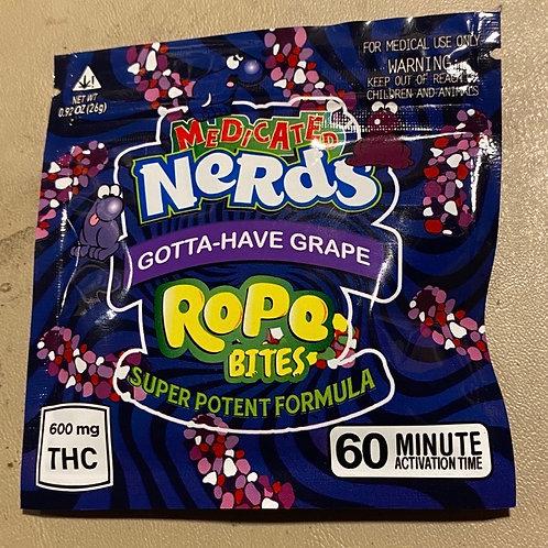 Nerd Rope Bites 600mg Grape