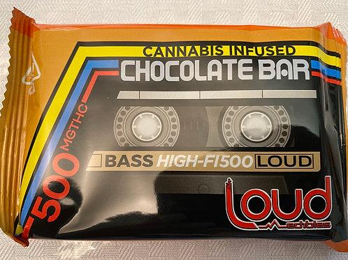 LOUD Chocolate Bar 500mg THC