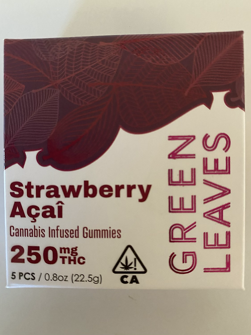 Green Leaves Cannabis Infused Gummies 250mg