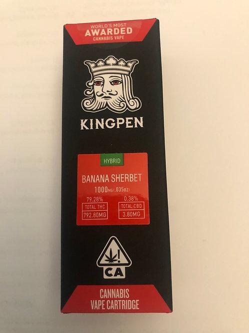 Banana Sherbet Hybrid KingPen Cartridge 1000mg