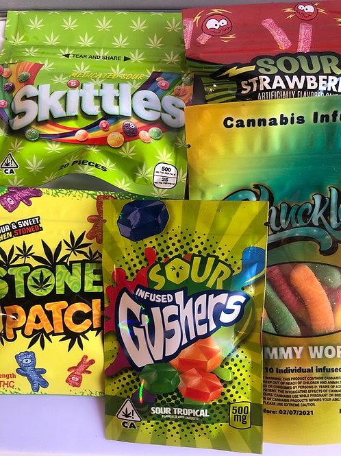 Bulk!!! Assorted candies 12pcs (500mg and 600mg)