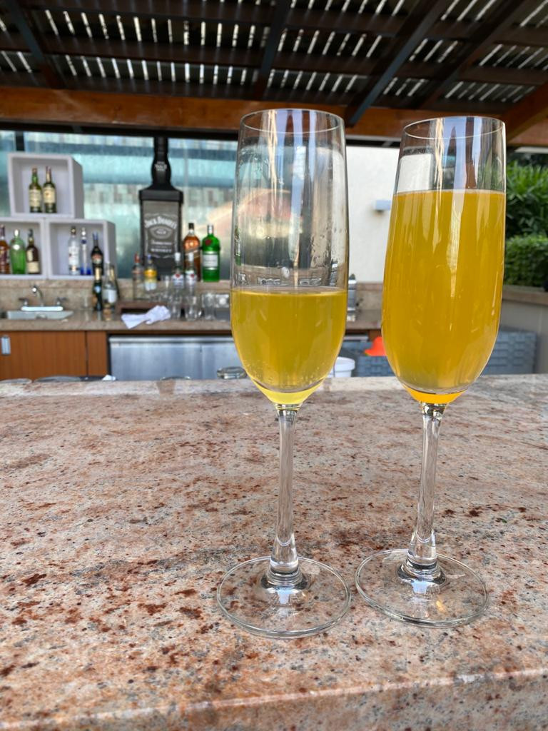 Mimosas at Brunch - Sheraton Grande Whitefield