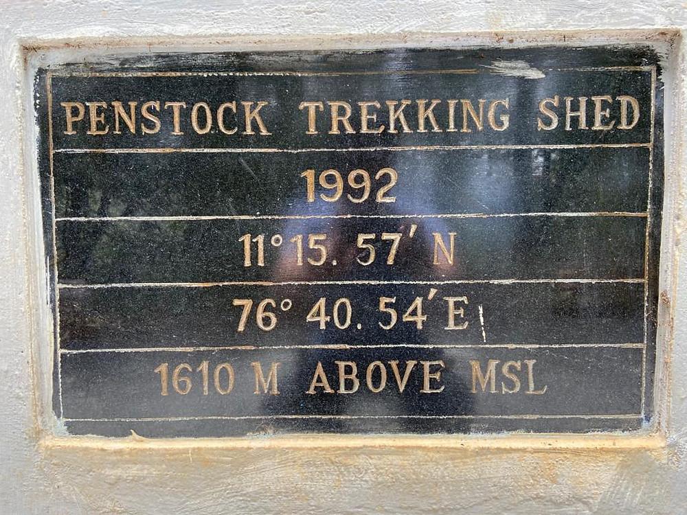 Penstock, Ooty