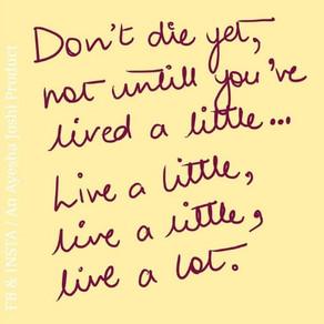 Post it! Notes: Live A Little