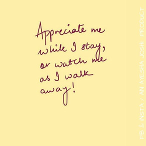 Post it! Notes: Watch me as I walk away
