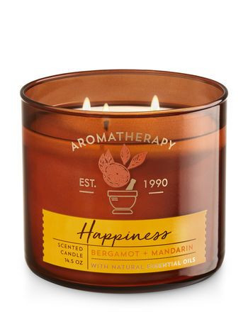 Bath & Body Works Happiness (3 Wick) Candle