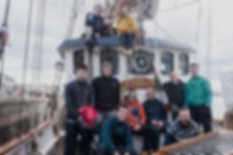 crew wooden sailing boat ketch labora