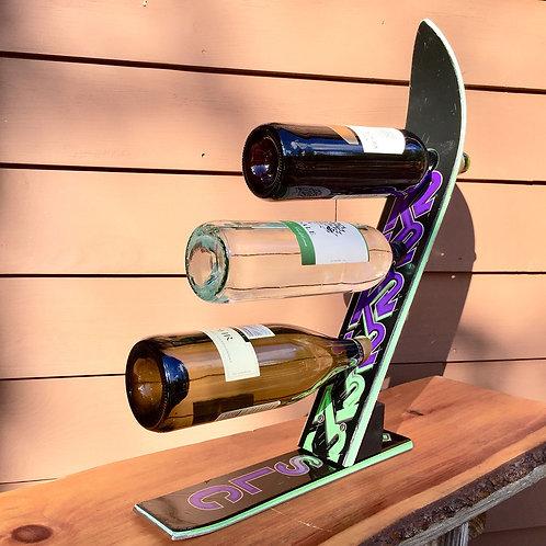 3-Bottle Ski Wine Rack – K2 Purple Green