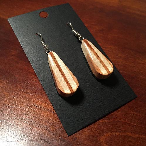 Downhill Ski Earrings – Wooden Interior