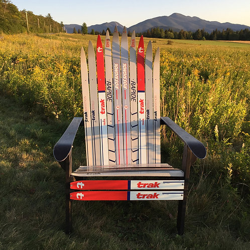 Classic Cross Country Ski Chair – Gray/Red/Blue