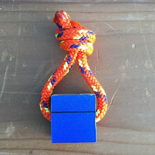 Ski Key Fob – Blue Square