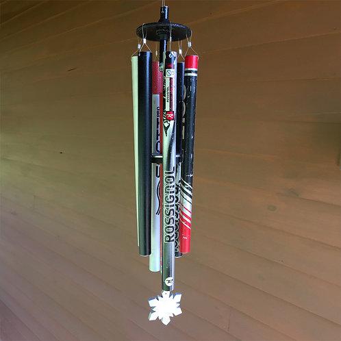 5-Pipe Ski Pole Wind Chime – Red/Black
