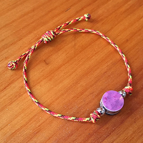 Ski Bead Slide Knot Bracelet –  Pink on Orange