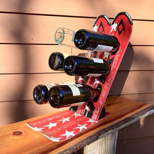 6-Bottle Ski Wine Rack – Volkl Red