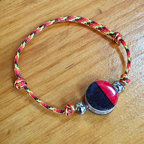Ski Bead Slide Knot Bracelet – Red Black on Org
