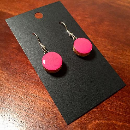 Downhill Ski Earrings – Pink Power