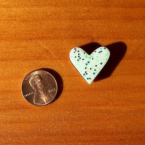 Ski Bead – Sparkle on White Heart