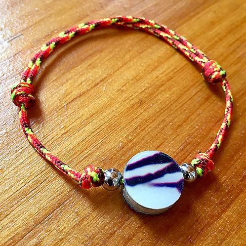 Ski Bead Slide Knot Bracelet – Purple Stripe on Org