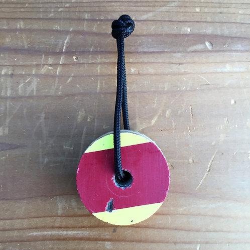 Ski Key Fob – Red Yellow Circle