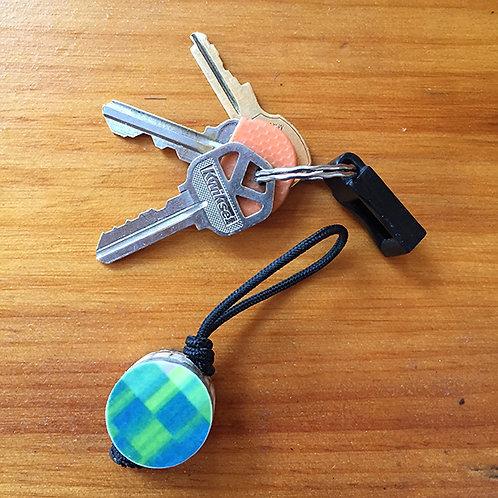 Ski Key Fob – Green Circle