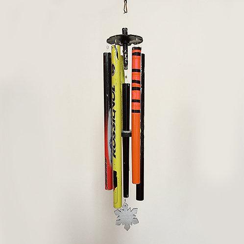 5 Pipe Ski Pole Wind Chime – Multicolor