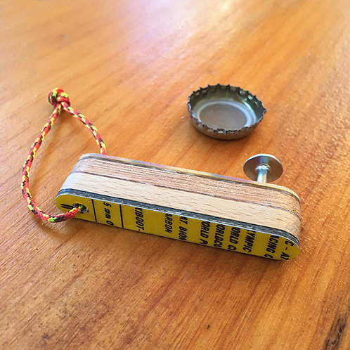 Mini Keychain Brewski™ Ski Bottle Opener – Yellow