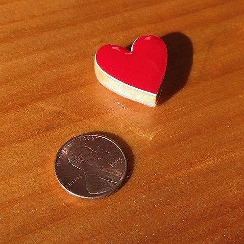 Snowboard Bead – Red Heart