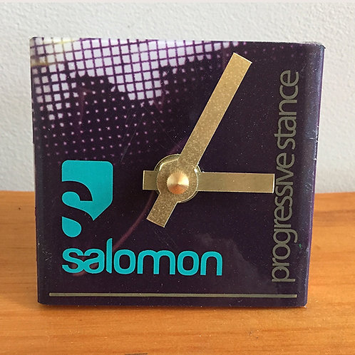 Ski Clock – Purple Teal Salomon