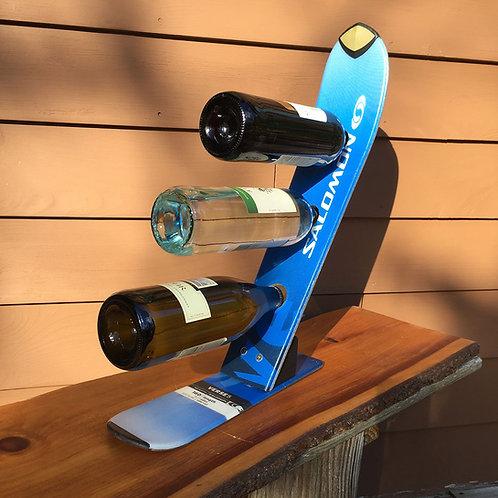 3-Bottle Ski Wine Rack – Salomon Blue