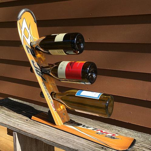 3-Bottle Ski Wine Rack