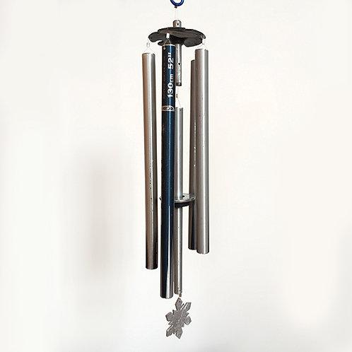 5-Pipe Ski Pole Wind Chime – Steel Blue Silver