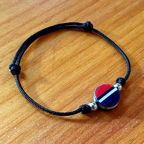 Ski Bead Slide Knot Bracelet – Striped on Black