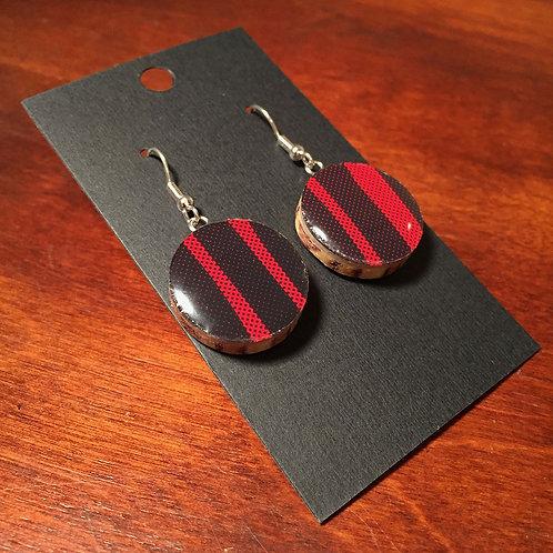 Downhill Ski Earrings – Fireball