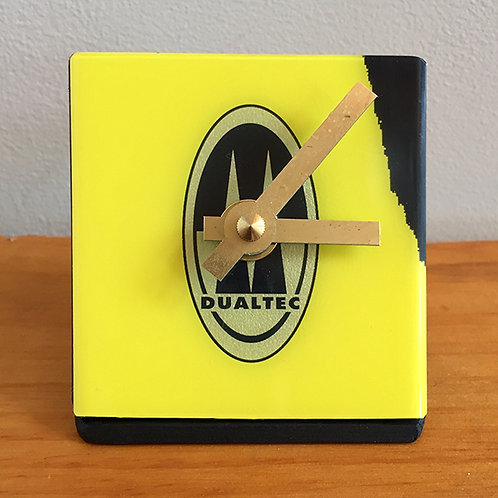 Ski Clock – Yellow Black Rossi