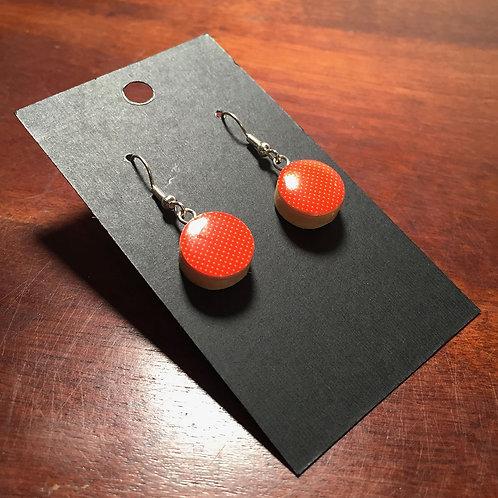 Downhill Ski Earrings – Orange Citrus